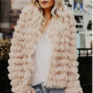Sweaters - 🆕 It's Here!! Faux Fur Shaggy Cardigan Jacket 🔥